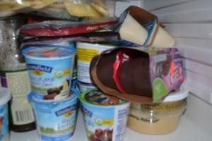 jello pudding, organic yogurt, shredded cheese